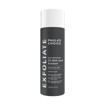 Paulas Choice--SKIN PERFECTING 2% BHA Liquid Salicylic Acid Exfoliant--Facial Exfoliant for Blackheads, Enlarged Pores, Wrinkles & Fine Lines