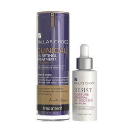 RESIST Moisture Renewal Oil Booster + CLINICAL 1% Retinol Treatment