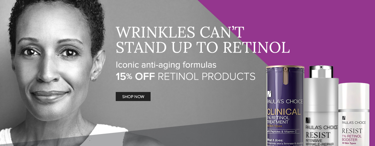 15% Off Retinol Products. Shop Now.