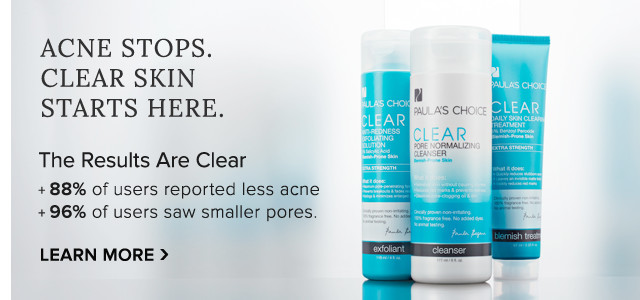 Acne Stops. Clear Skin Starts Here. Learn More.